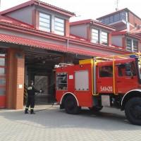 Przedszkolaki  z Trójki  w Sanockiej Straży Pożarnej