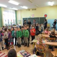 Przedszkolaki z wizytą w Szkole Podstawowej Nr 1 w Sanoku